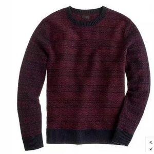 J Crew Lambs wool pullover snowflake sweater large